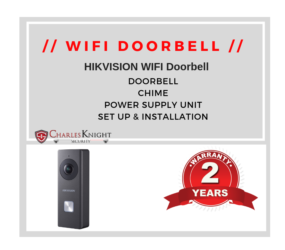 Hikvision Wifi Video Bell & Internal Chime